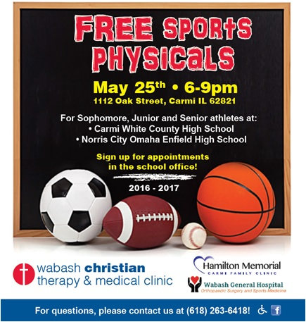 Carmi Family Clinic To Offer Free Sports Physicals Hamilton